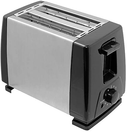Low wattage toaster for caravans